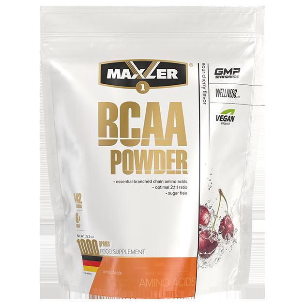Аминокислоты БЦАА MAXLER BCAA Powder Sugar Free 1000 гр (Вишня)