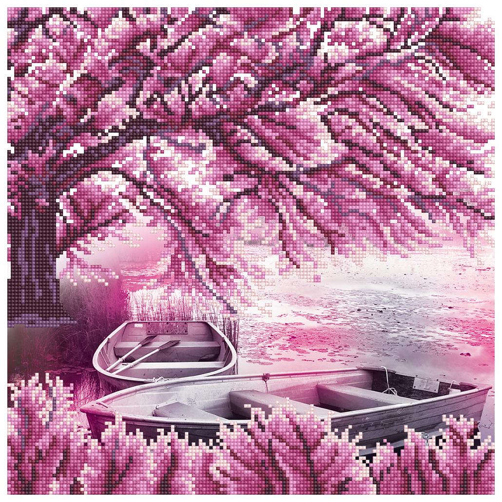 Алмазная живопись ФРЕЯ Цветение сакуры ALV-19 40x40 см