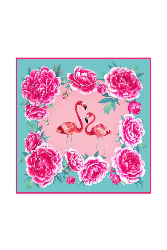 Платок женский РУССКИЕ В МОДЕ Фламинго 0111 розовый