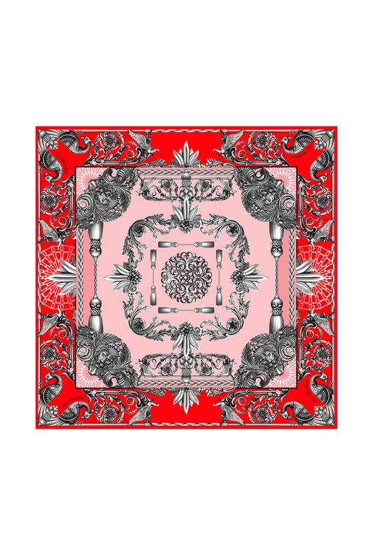 Платок женский РУССКИЕ В МОДЕ Русское чугунное литье 0120 красный