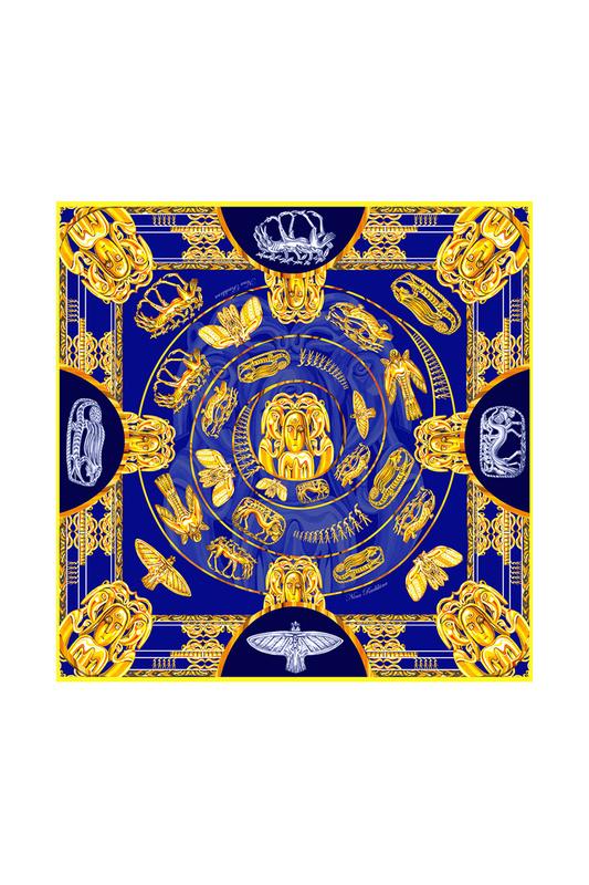 Платок женский РУССКИЕ В МОДЕ 0122 синий