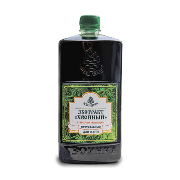 Купить Экстракт Хвойный натуральный для ванн с эфирным маслом ромашки 1 л, Хвоинка