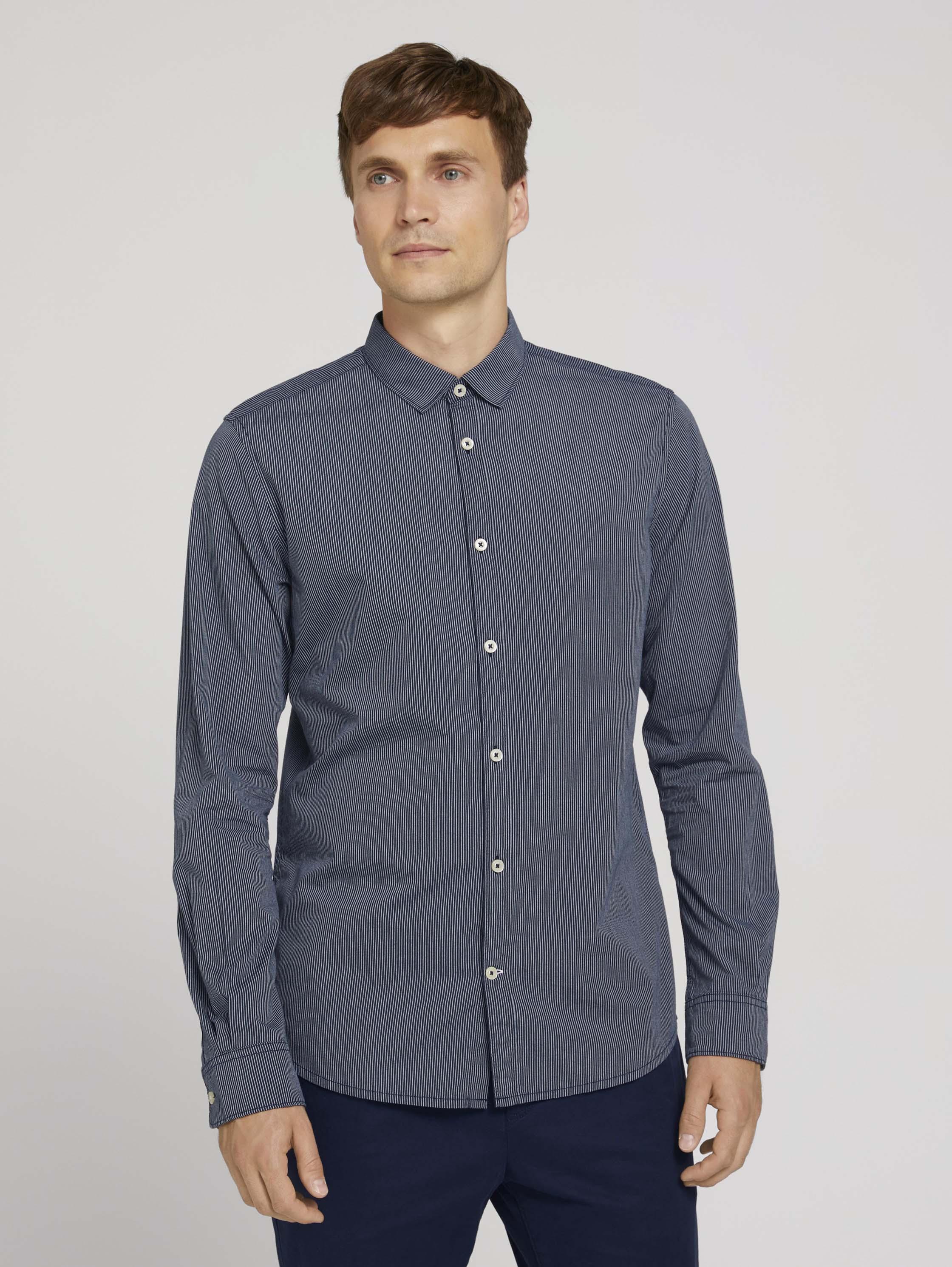 Рубашка мужская TOM TAILOR 1026863 синяя XL