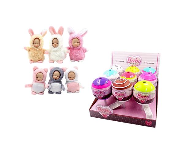 Купить Пупс-куколка в конфетке, серия Baby boutique PT-01068/1 в ассортименте, ABtoys, Пупсы