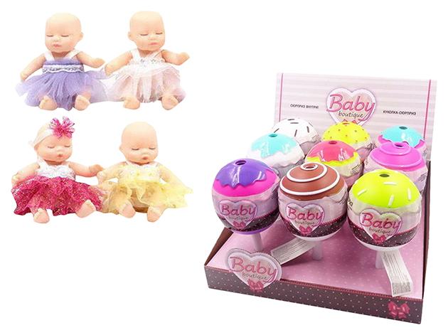 Купить Пупс-куколка в конфетке, серия Baby boutique PT-01069/1 в ассортименте, ABtoys, Пупсы