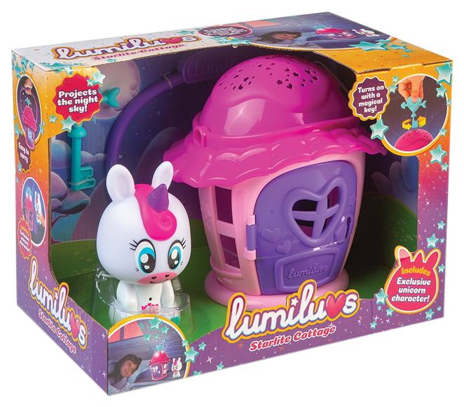 Купить Ночник Lumiluvs Единорог Luna с домиком-проектором звездного неба, ABtoys,