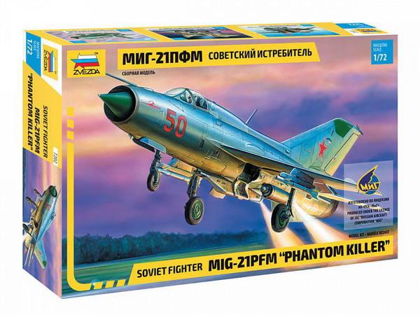 Купить Модель сборная Звезда Советский истребитель Миг-21Пфм, ZVEZDA, Модели для сборки