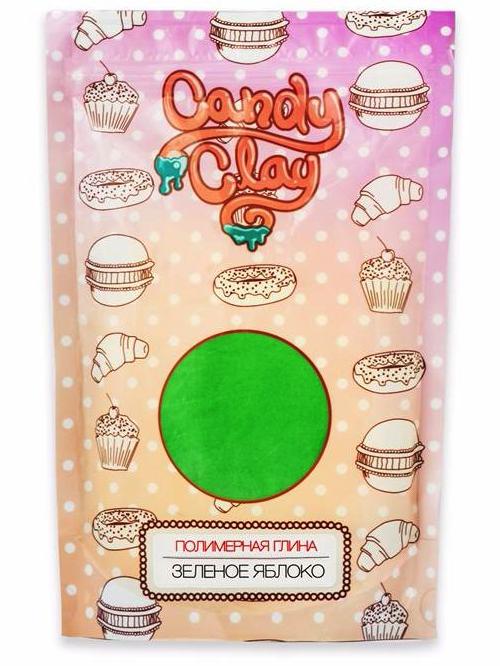 Купить Полимерная глина Полимерная кондитерская глина, зеленое яблоко FL, 01-0204, от Candy Clay,