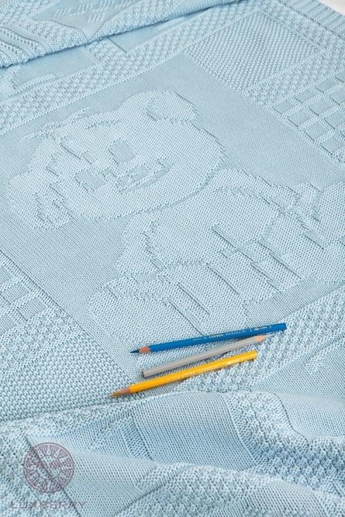 Плед детский LUXBERRY IMPERIO 16 голубой 75х100