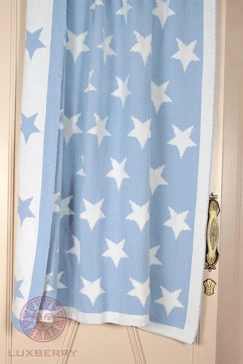 Плед детский LUXBERRY IMPERIO 254 голубой 100х150
