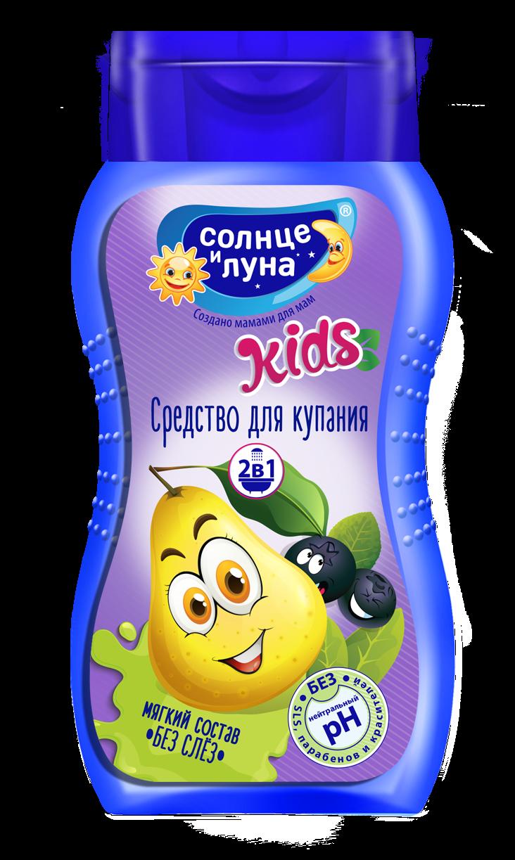 Средство для купания Солнце и Луна ДЮШЕС 200мл, Детская пена для ванны  - купить со скидкой