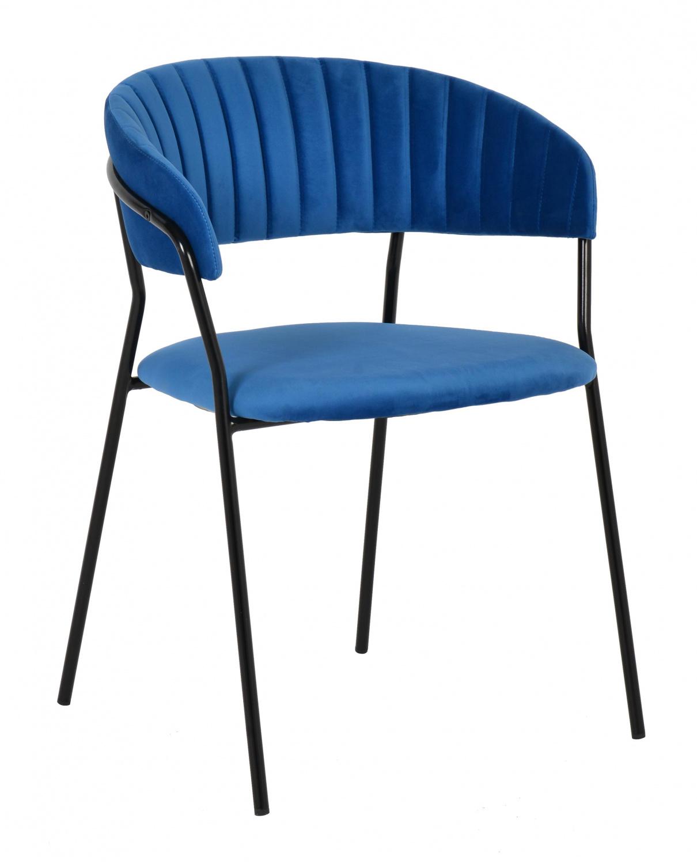 Стул Bradex Home Turin синий с чёрными ножками /FR 0393