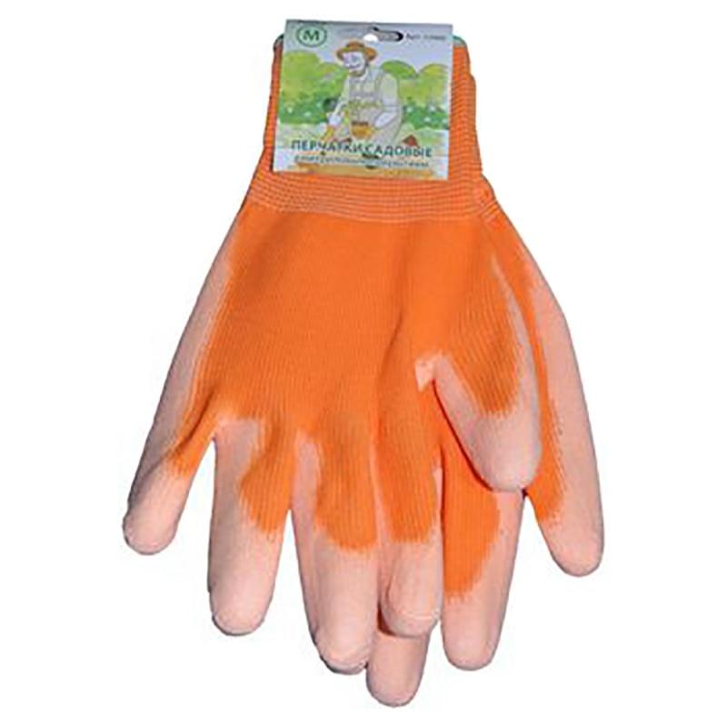 Перчатки оранжевые M (12шт/уп)