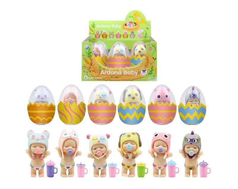 Купить Пупс-куколка в яйце, 6 шт. в дисплее, 6 видов, Цена За Штуку!, Junfa toys,