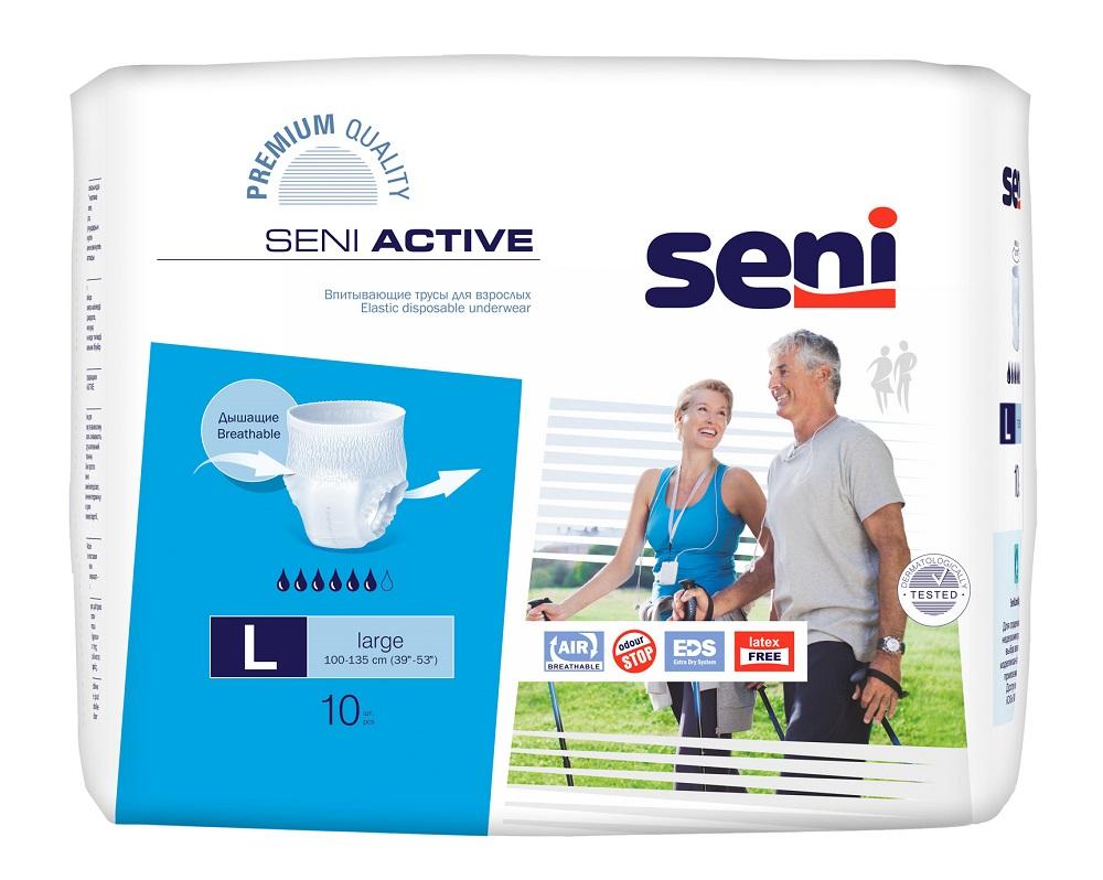 Впитывающие трусы SENI Active Large 10