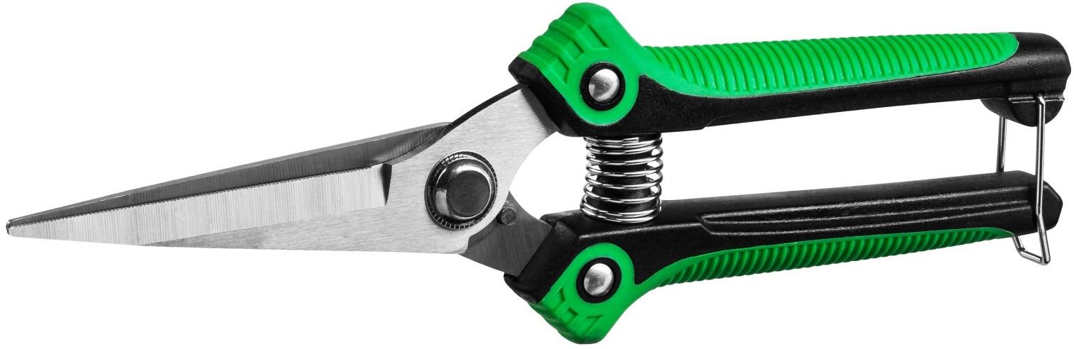 Ножницы садовые с эргономичными пластиковыми рукоятками \