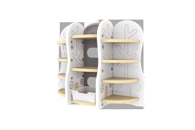 Стеллаж для игрушек iFam DesignToy 10 бежевый