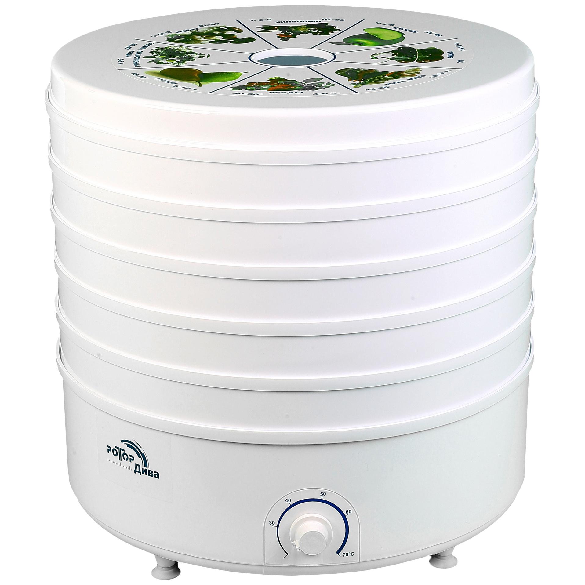 Сушилка для овощей и фруктов Ротор СШ-007-04 white