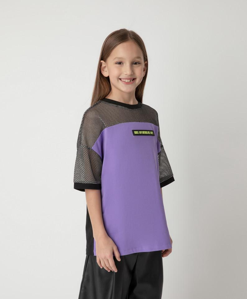 Купить 12109GJC1207, Футболка Gulliver для девочек цв. фиолетовый р-р. 140,
