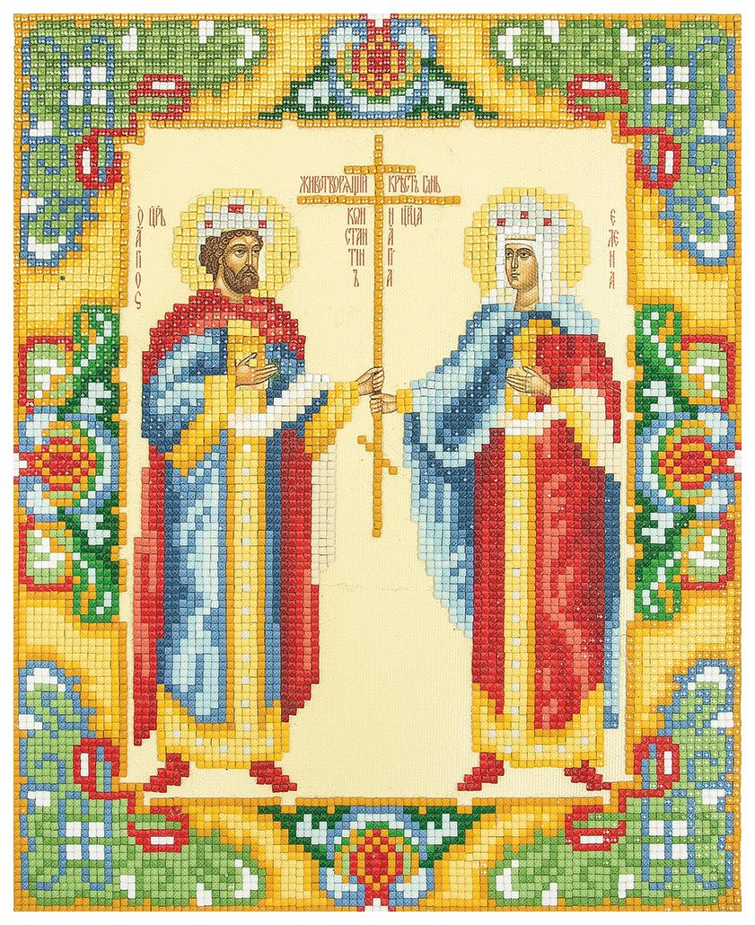 Алмазная вышивка Фрея Икона Святых Равноапостольных царя Константина и царицы Елены