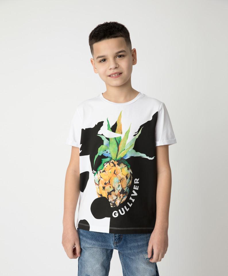 Футболка Gulliver для мальчиков цв. белый
