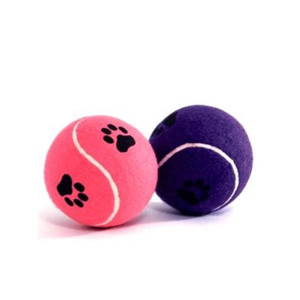 Апорт для собак Beeztees Мяч теннисный с лапкой в ассортименте 6.5 см.