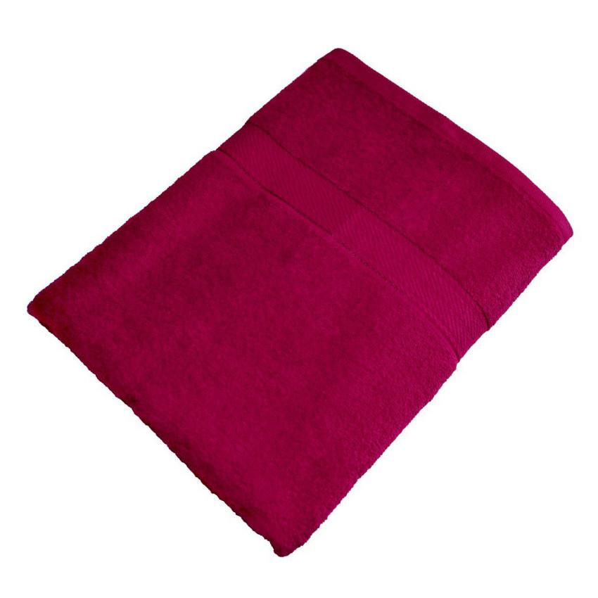 Махровое полотенце бордовый 70*140-100% хлопок, УзТ-ПМ-114-08-18