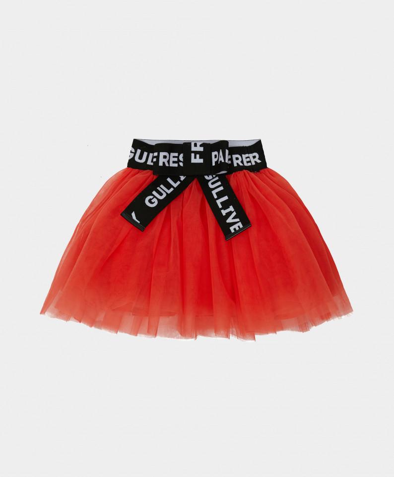 Купить 121GPGMC6101, Юбка Gulliver для девочек цв. оранжевый р-р. 104,