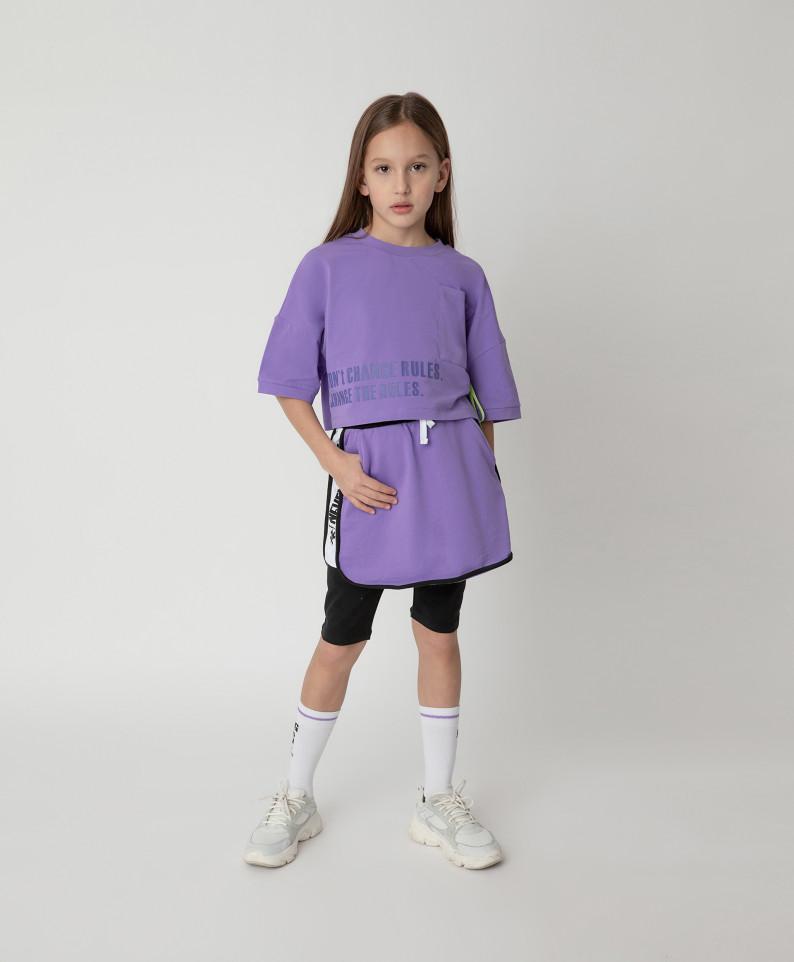 Купить 12109GJC5501, Юбка Gulliver для девочек цв. фиолетовый р-р. 140,