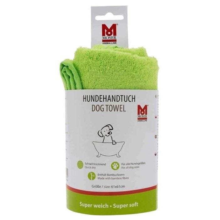 Полотенце для животных Moser,  зеленое