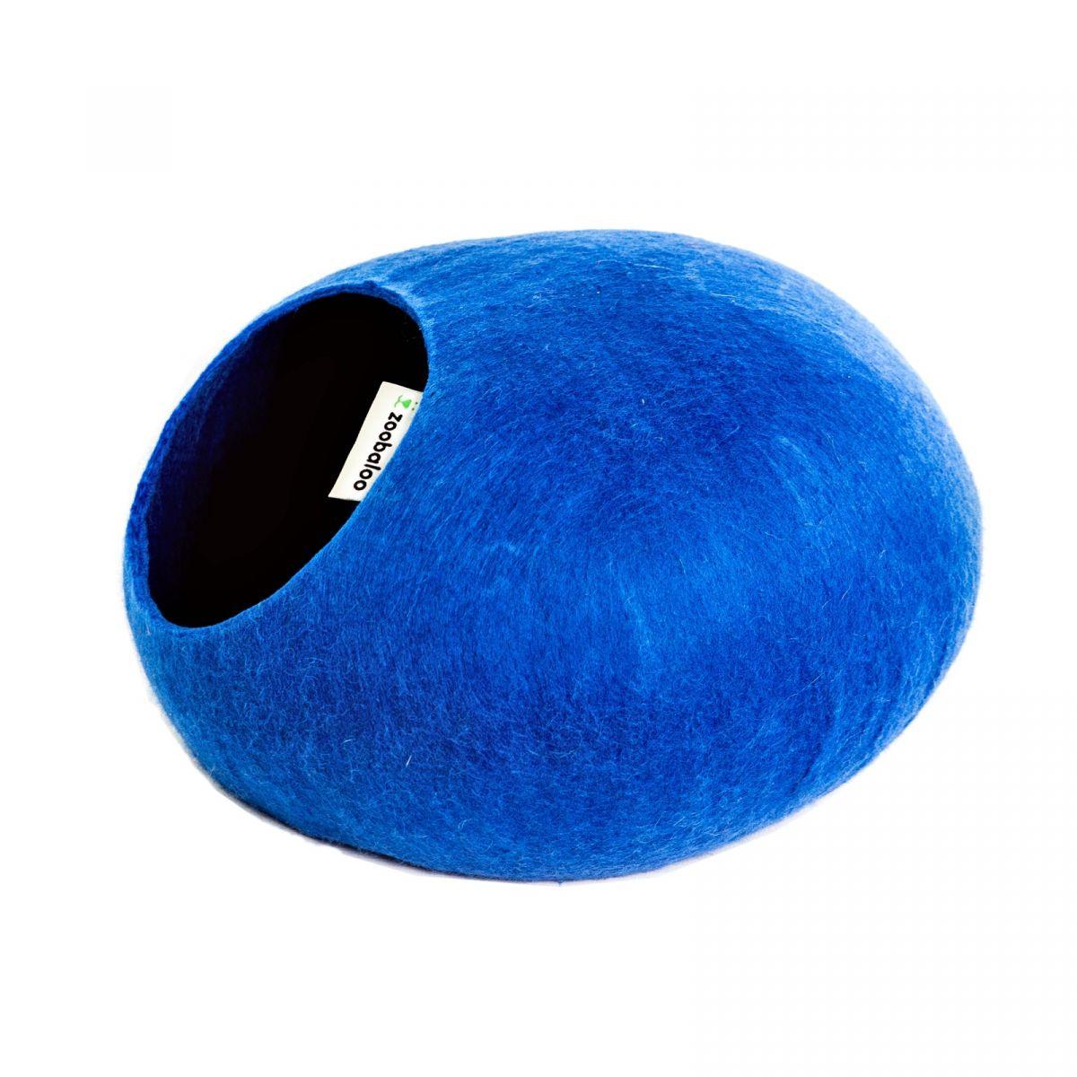 Домик для кошек и собак Zoobaloo WoolPetHouse L, синий, 40x40x20см