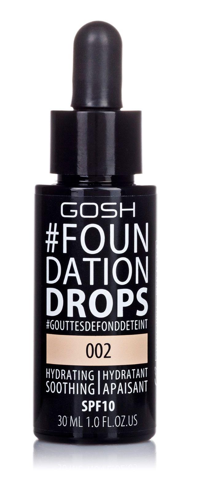 Купить Тональный крем Gosh Foundation Drops 002 30 мл, GOSH COPENHAGEN