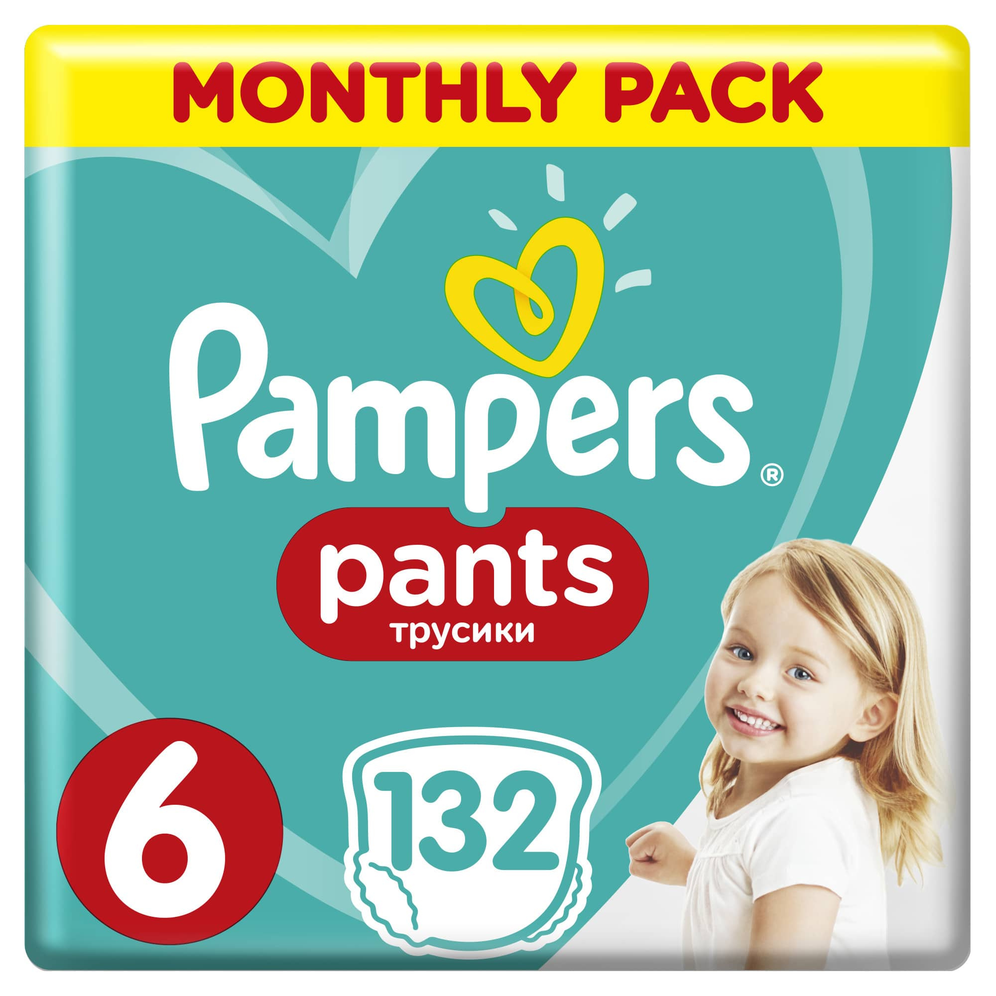Трусики Pampers Pants 15+ кг, размер