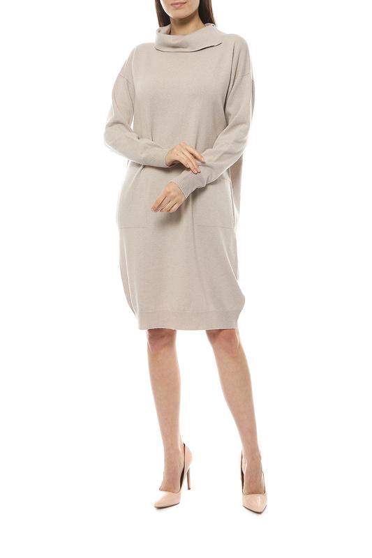Повседневное платье женское Peserico S92096F12 бежевое 46