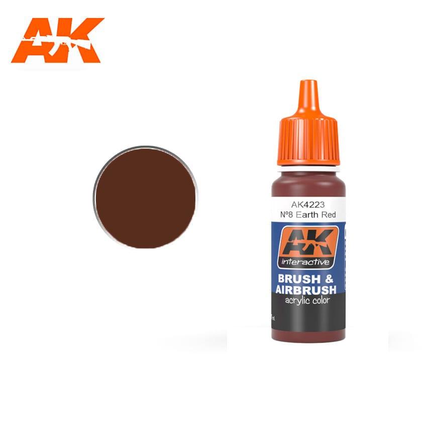 Купить Краска акриловая AK Interactive Nº8 Earth Red FS30117,