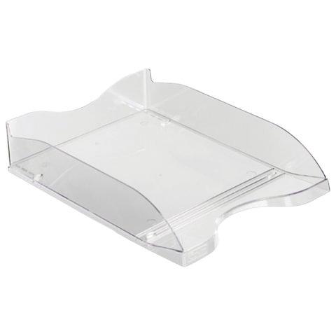Лоток для бумаг СТАММ ЛЮКС, горизонтальный, прозрачный