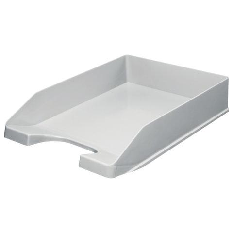 Лоток для бумаг СТАНДАРТ, горизонтальный, серый