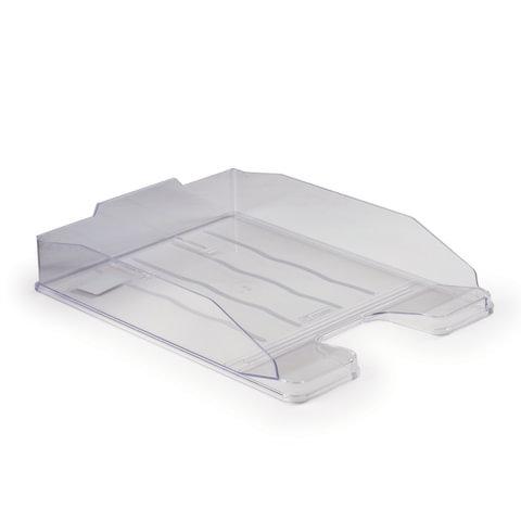 Лоток для бумаг ЭКСПЕРТ, горизонтальный, прозрачный