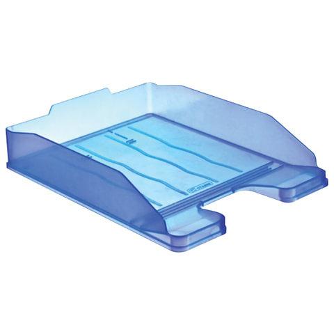 Лоток для бумаг ЭКСПЕРТ, горизонтальный, тонированный голубой