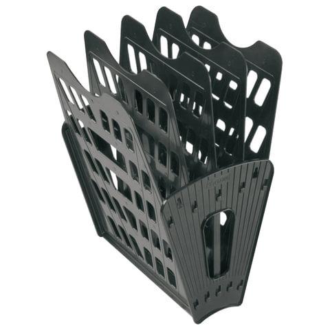 Лоток для бумаг, вертикально горизонтальный, пятисекционный, черный|2