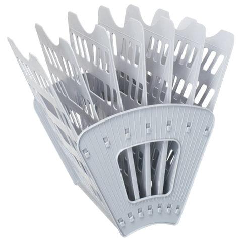 Лоток для бумаг, вертикально горизонтальный, семисекционный, серый