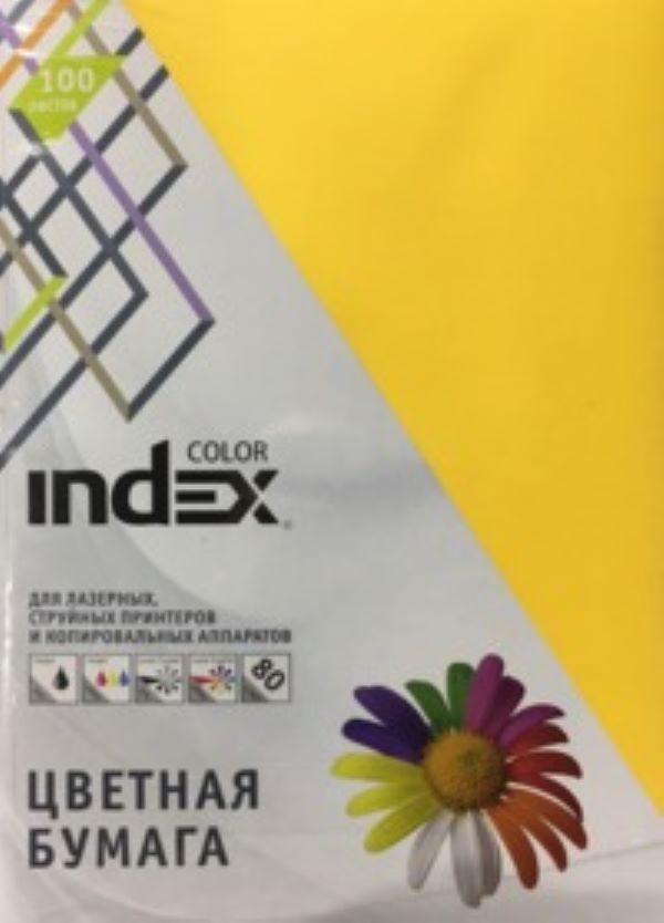 Бумага цветная Index Color, 80гр, А4, желтый (53), 100л фото