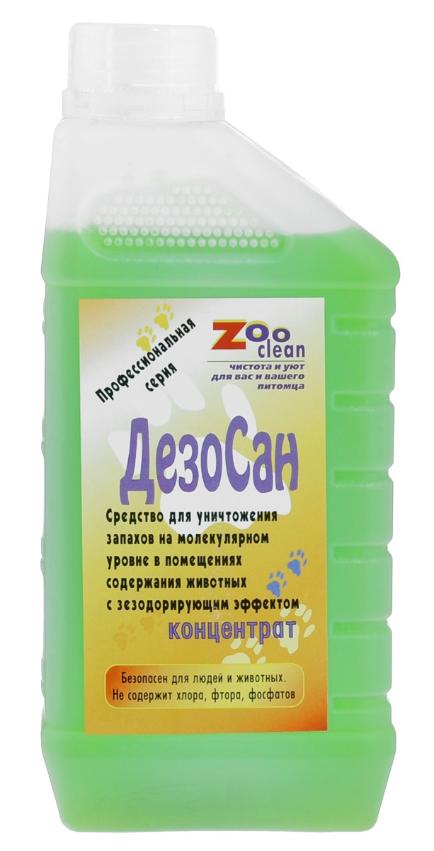 Уничтожитель запахов животных ZooClean ДезоСан, концентрат, 1000мл
