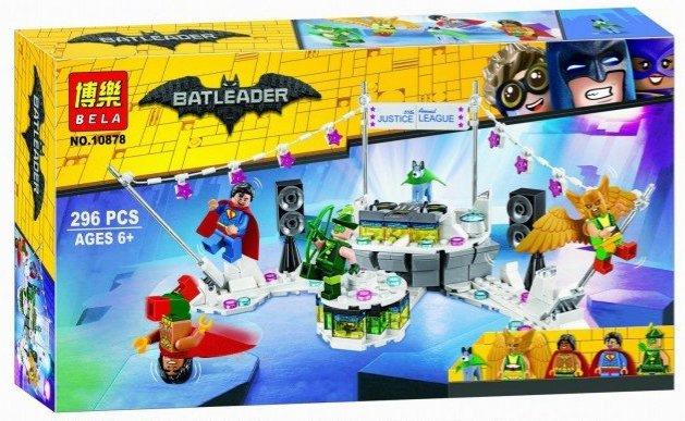 Купить Конструктор Batleader «Вечеринка Лиги Справедливости» 10878 Lari (Bela), Конструкторы пластмассовые