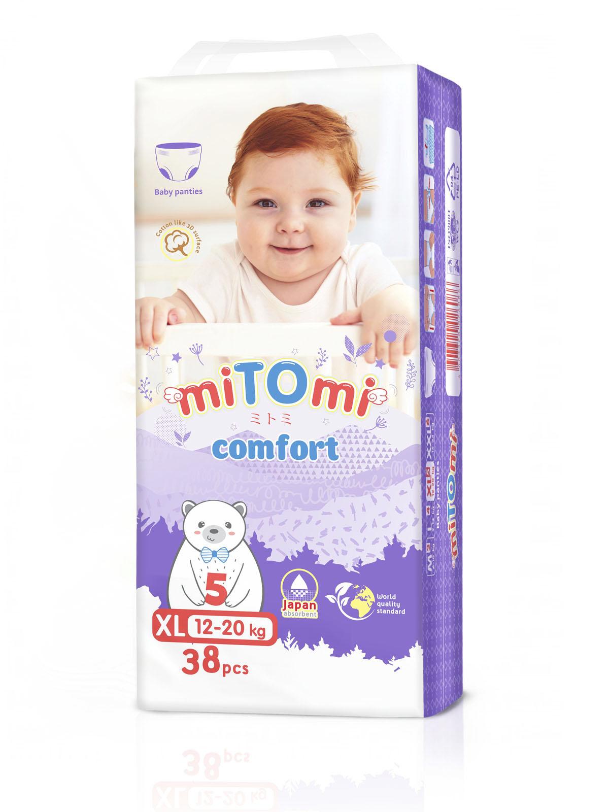 Подгузники трусики miTOmi Comfort, XL (12