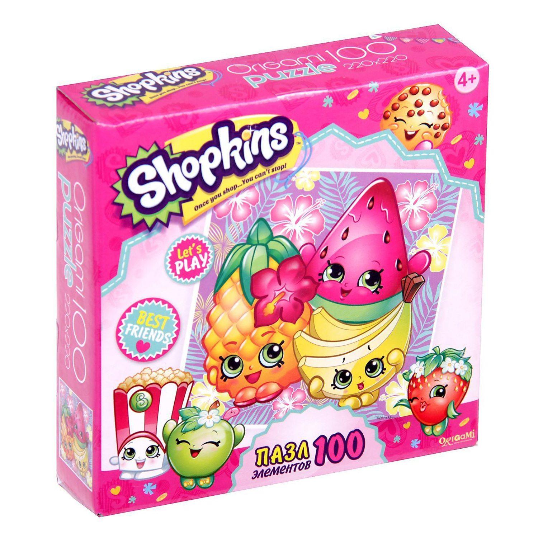 Купить Пазл Shopkins Origami 100А Вечеринка на острове 02971, Пазлы