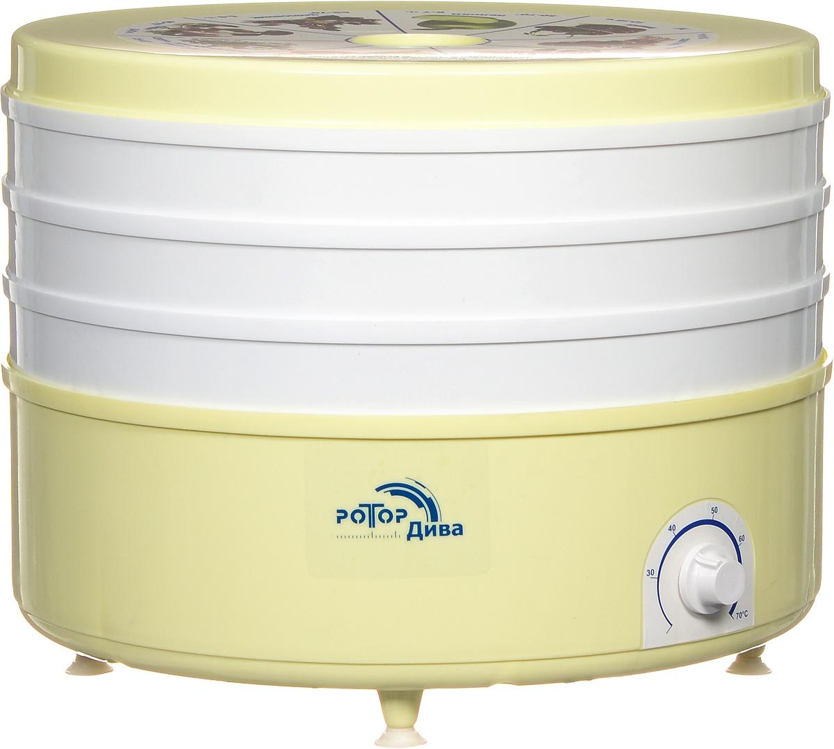 Сушилка для овощей и фруктов Ротор Дива СШ-007-05 white/yellow