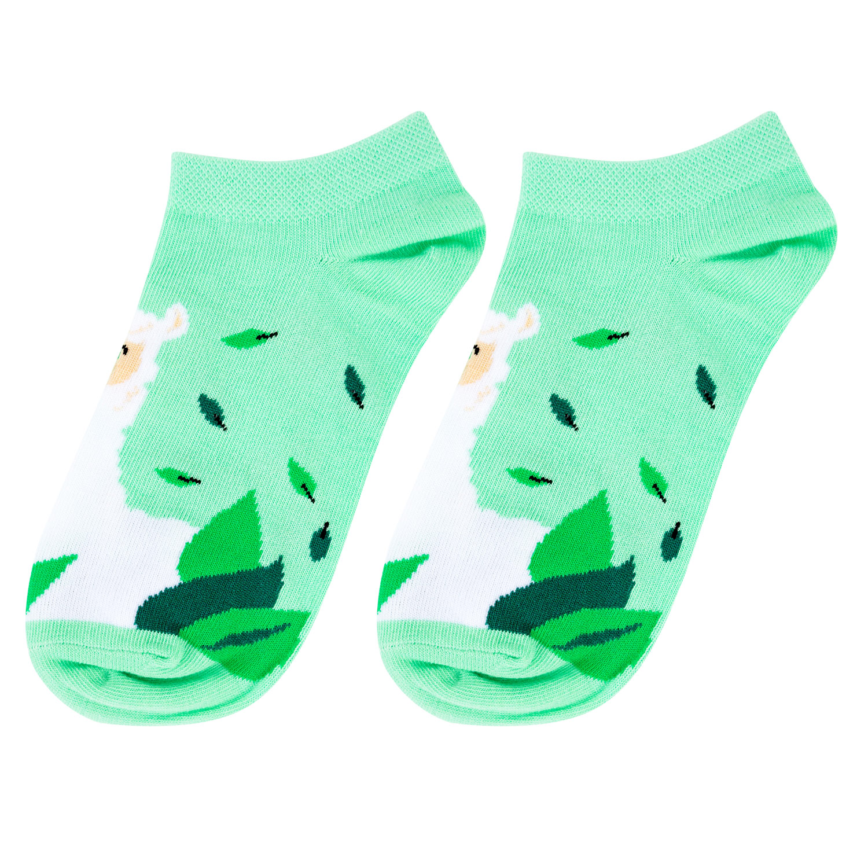 Носки женские Kawaii Factory Ламы зеленые 36-39