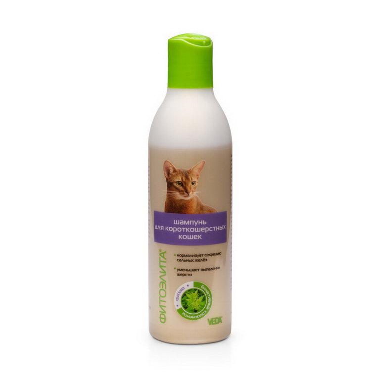Шампунь для кошек VEDA Фитоэлита для короткошерстных,