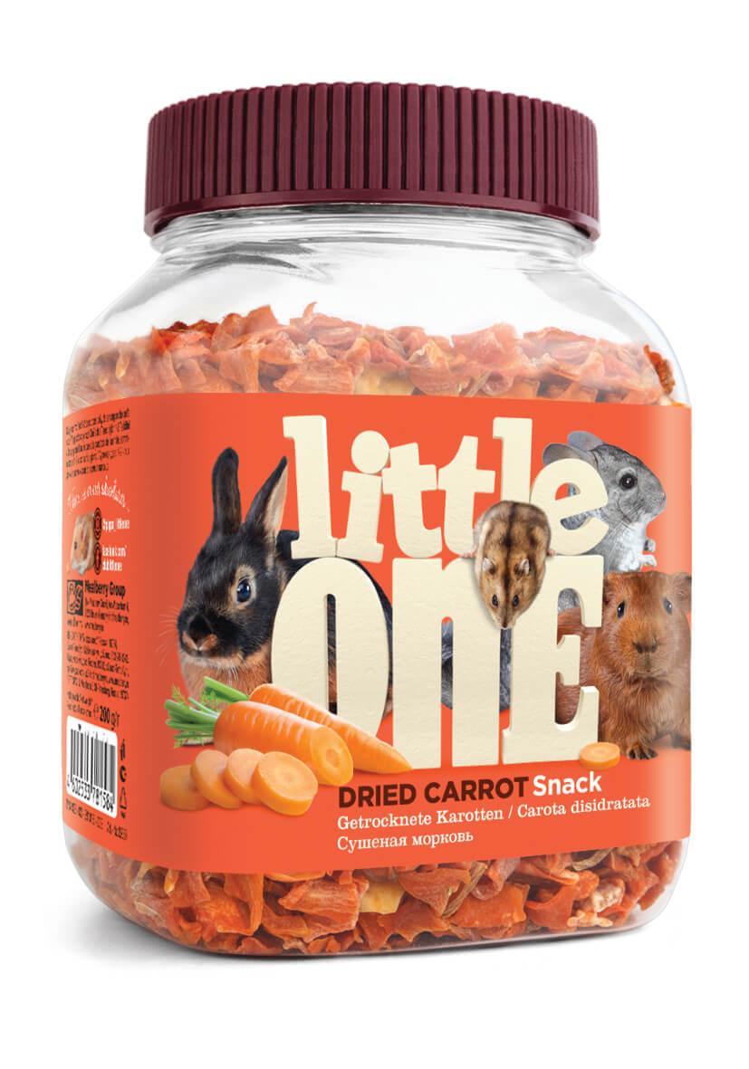 Лакомство для грызунов Little One Сушеная морковь, 200г фото